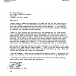 Scan of Hines Trucking testimonial letter