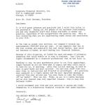 Scan of National Van Lines testimonial letter
