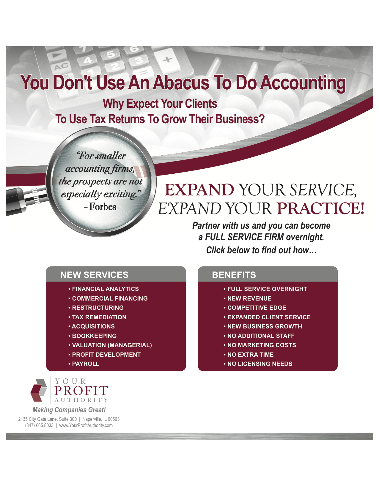 Image of accounting advertisement
